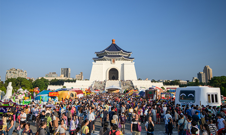本週末中正紀念堂民主大道將有市集及演出活動(圖為108年國慶資料照片)